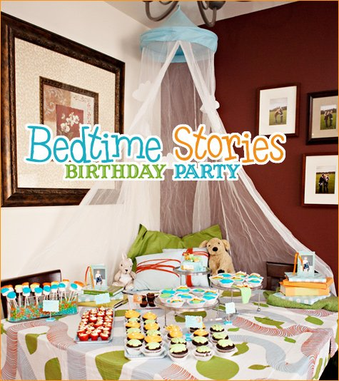 bedtime stories birthday party ideas