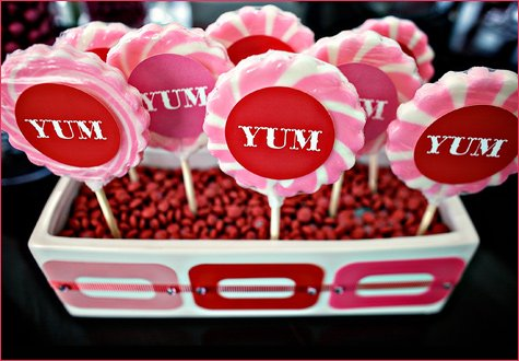 candy buffet lollipop displays