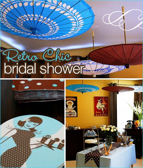 retro chic bridal shower ideas