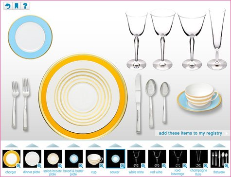 brides set your table tool