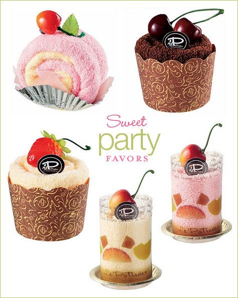 sweet cake roll party favors