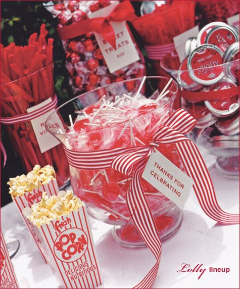 candy buffet - red & white