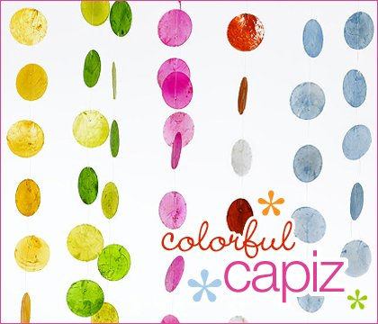colorful capiz party garland