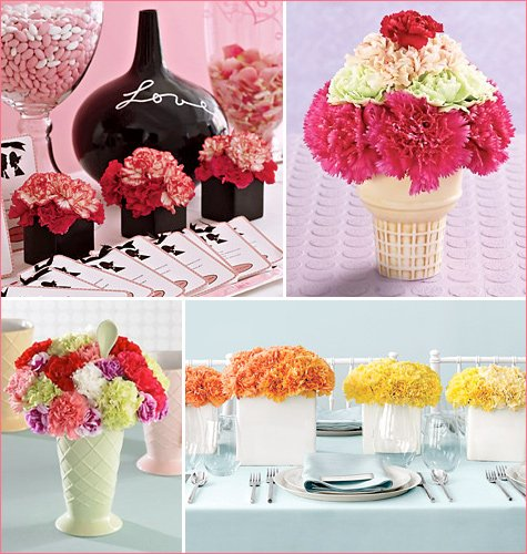 carnation centerpiece ideas
