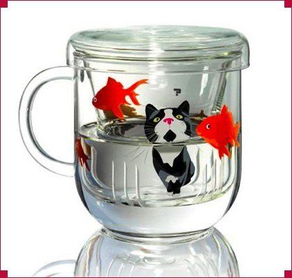 cat and fish cup