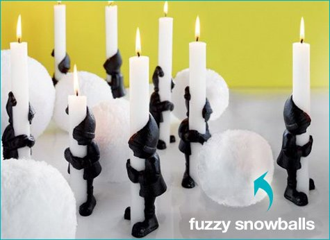 modern holiday decorations - elf candleholders