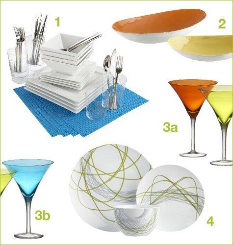 cb2 affordable modern dinnerware