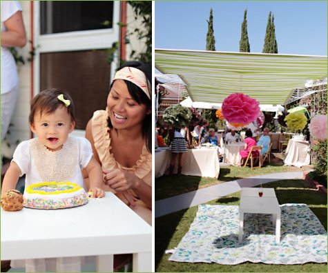 charming backyard first birthday party