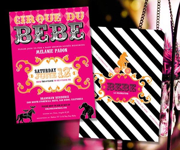 Cirque Du Bebe Invites