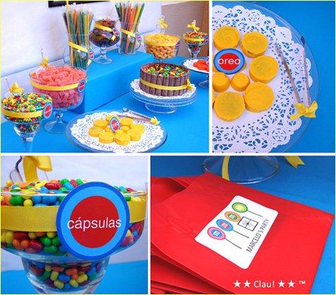 birthday candy dessert buffet