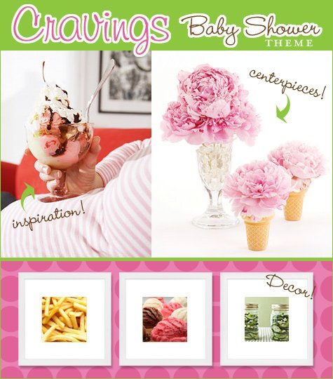 pregnancy cravings baby shower theme