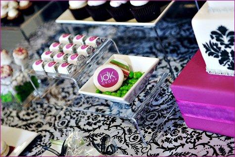 raspberry purple green dessert buffet