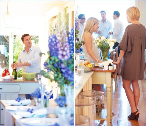 purple and blue dinner party ideas