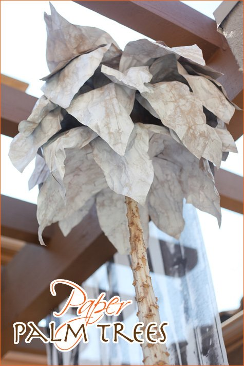 how to make paper palm trees