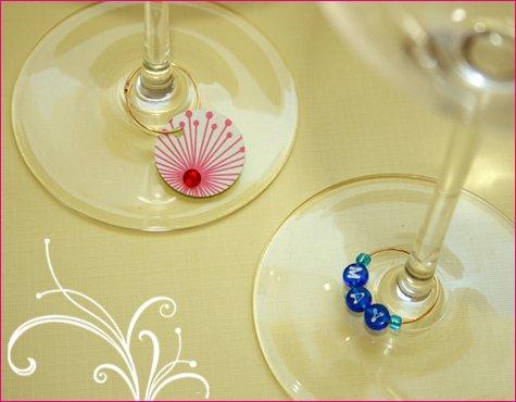 DIY wine stem labels