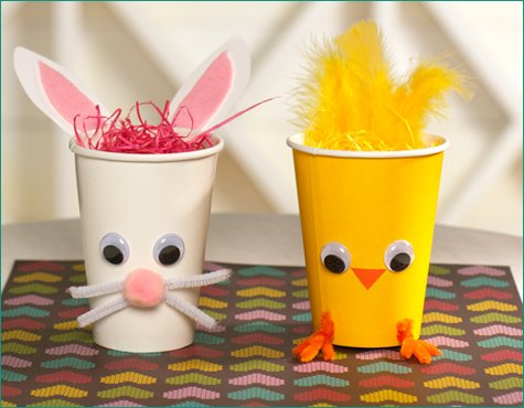 Diy Chick Bunny Treat Holders Hostess With The Mostess