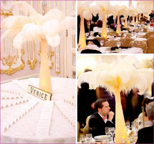 feather flower wedding & party decorations