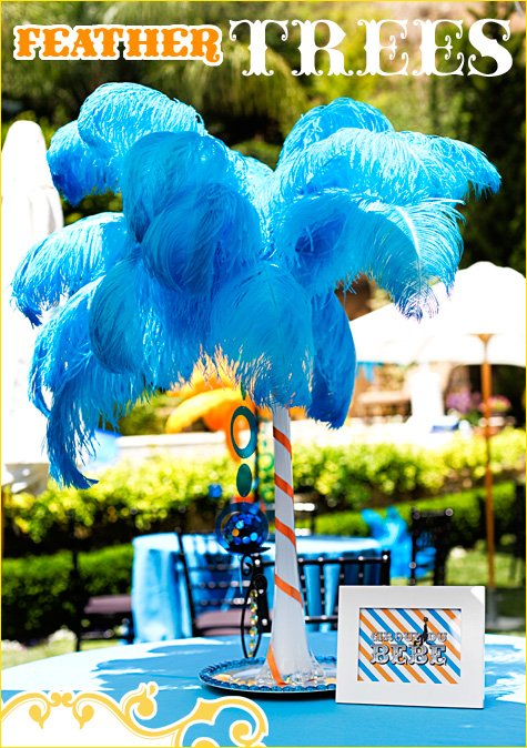 feather tree centerpieces