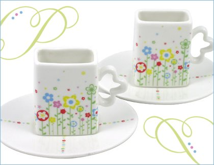 flower fields espresso set