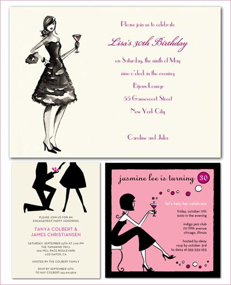 French Candy Theme Invitations