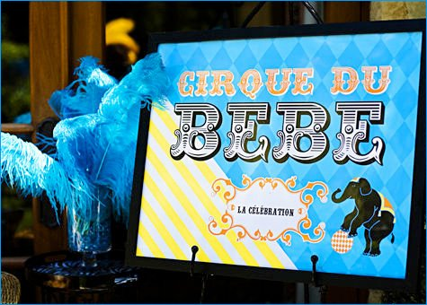 French Circus Baby Shower Theme