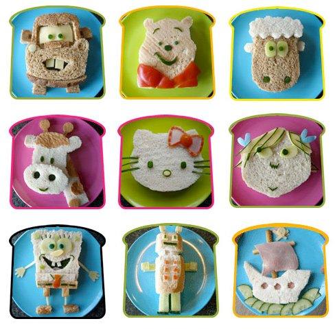 funky lunch - kids sandwich ideas