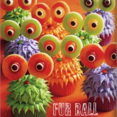 Fur Ball Monster Cupcakes