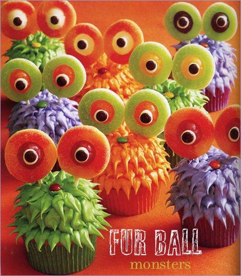 Fur Ball Monster Cupcakes