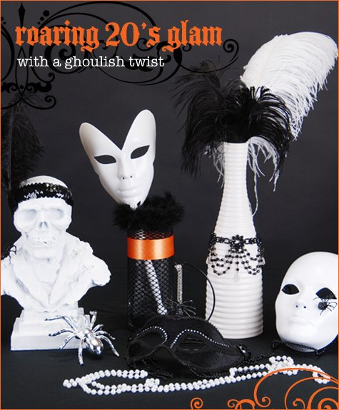 ghoulish glam halloween party ideas