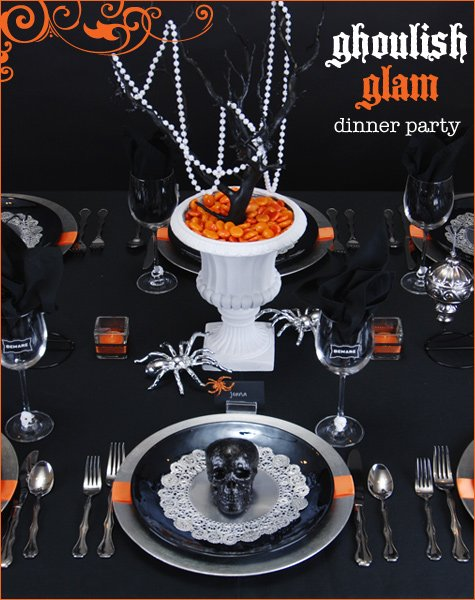ghoulish glam halloween party
