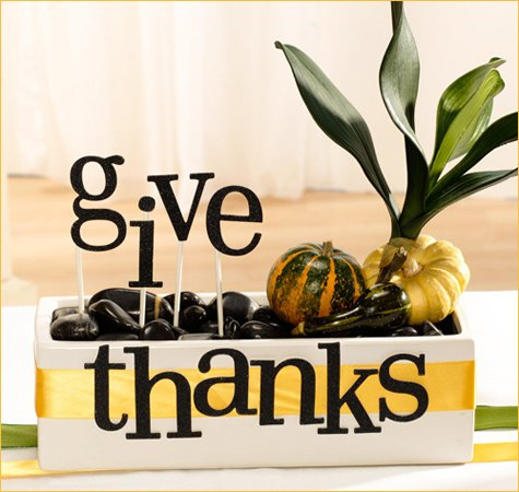 Thanksgiving table centerpiece idea