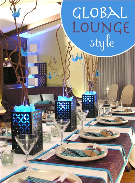global lounge style party theme