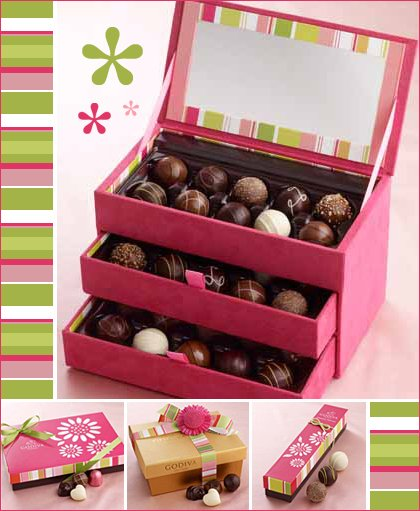 godiva chocolate keepsake box