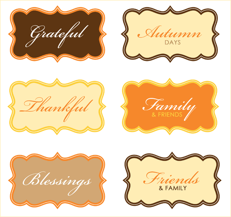 free modern thanksgiving party printables