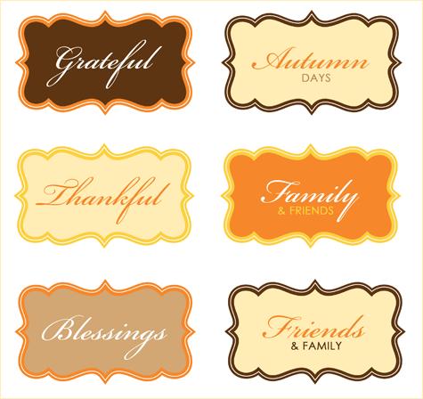 free modern thanksgiving party printables
