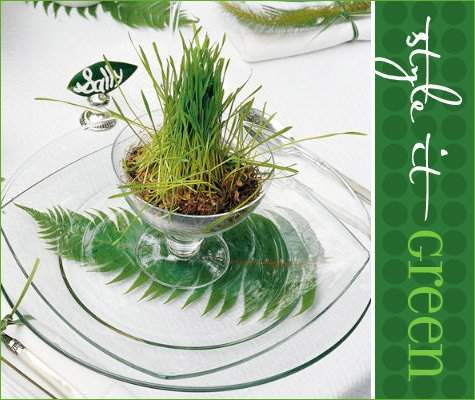 spring green table setting ideas