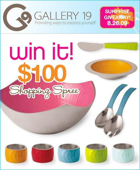 Gallery 19 Giveaway - Entertaining