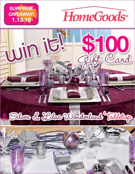HomeGoods gift card giveaway
