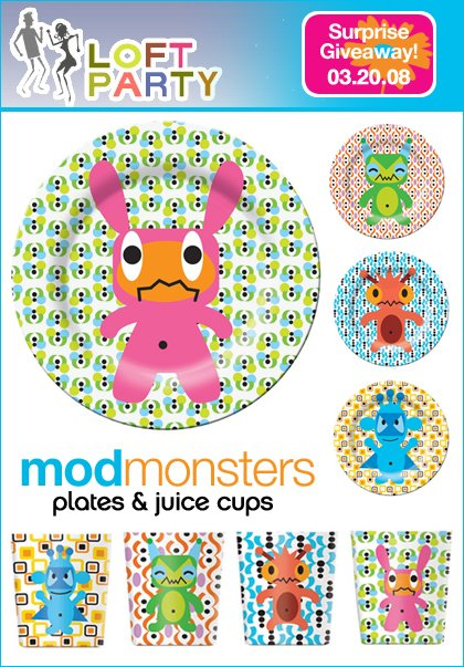 loft party - french bull monsters set