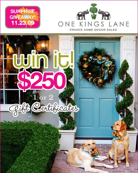 Giveaway - One Kings Lane