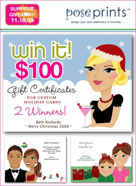 PosePrints holiday giveaway