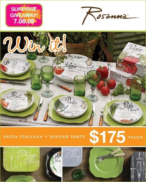 Rosanna dinnerware giveaway