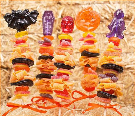 Halloween Candy Skewers Party Favors