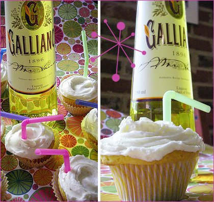 Galliano Harvey Wallbanger Cupcakes