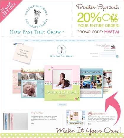 How Fast They Grow digital scrapbooking