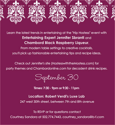 hip hostess chambord new york event