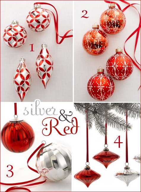 silver and red holiday decorating ideas