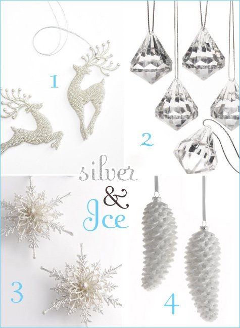 silver and white holiday decorating ideas