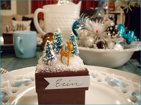 retro holiday DIY placecard