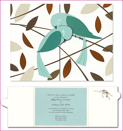 humming birds wedding invitation